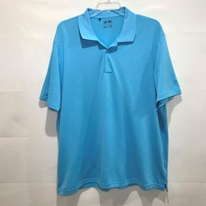 Adidas Golf Polo Turquoise Shirt Size XXL